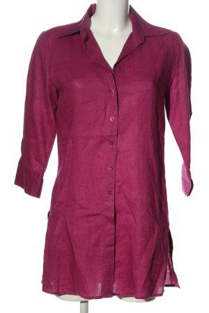 Marco Pecci Lniana bluzka różowy W stylu biznesowym