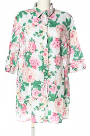 Marco Pecci Long-Bluse Allover-Druck Casual-Look