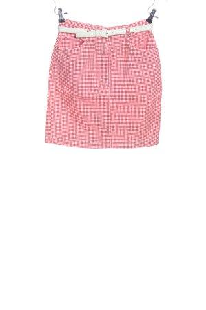 Marco Pecci Minirock pink Allover-Druck Casual-Look