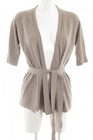 Marco Pecci Knitted Wrap Cardigan natural white allover print casual look