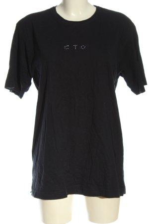 Marco Pecci T-shirt nero stile casual