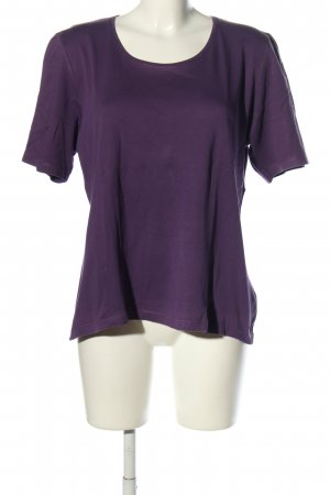 Marco Pecci T-Shirt lila Casual-Look