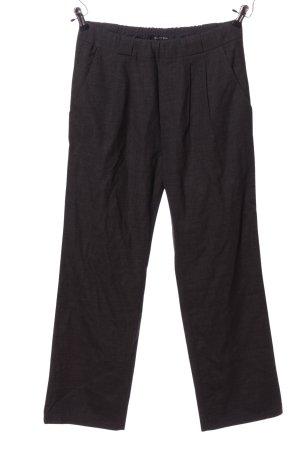 Marco Polo Pantalone da abito nero puntinato stile casual