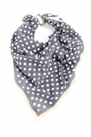 Marco Polo Neckerchief light grey-white allover print casual look