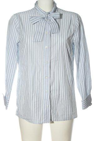 Marco Polo Hemd-Bluse blau-weiß Allover-Druck Casual-Look