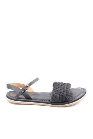 Marco Polo Sandalo comodo nero stile casual