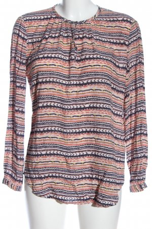 Marco Polo Langarm-Bluse abstraktes Muster Casual-Look