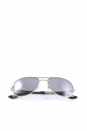 Marco Polo Oval Sunglasses black-silver-colored casual look