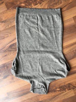 Short Sleeve Knitted Jacket grey angora wool