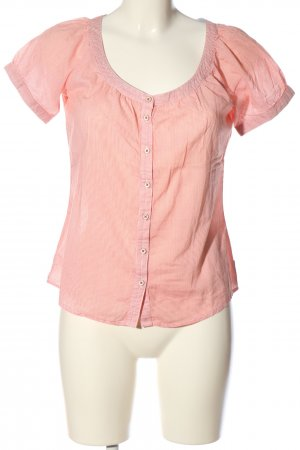 Marco Polo Schlupf-Bluse pink Streifenmuster Casual-Look