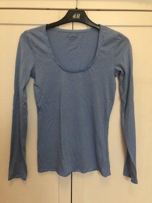 Marco Polo Shirt langarm XS Baumwolle Modal hellblau
