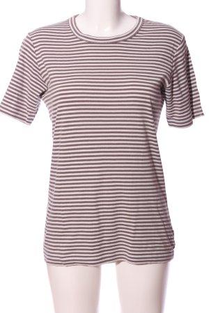 Marco Polo T-Shirt hellgrau Streifenmuster Casual-Look