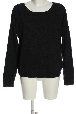 Marco Polo Jersey de lana negro look casual