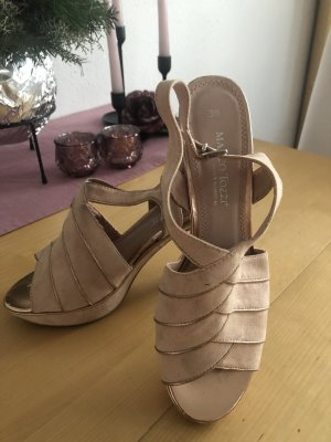 Marco Tozzi Strapped High-Heeled Sandals rose-gold-coloured