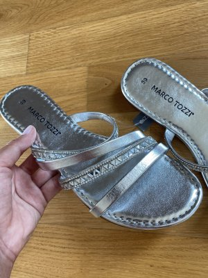 Marco Tozzi 39 Silber flip Flops