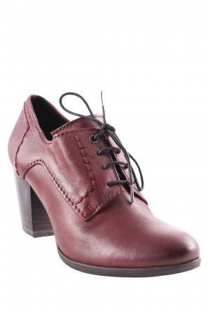 Marco Tozzi Ankle Boots schwarz-bordeauxrot Street-Fashion-Look