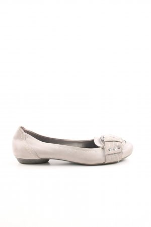 Marco Tozzi Ballerinas with Toecap natural white casual look