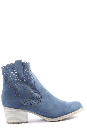 Marco Tozzi Booties blau Casual-Look