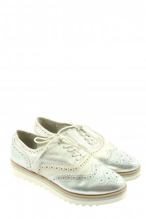 Marco Tozzi Wingtip Shoes silver-colored-natural white casual look