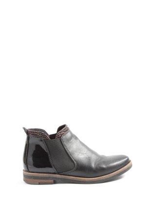 Marco Tozzi Chelsea Boot noir style décontracté
