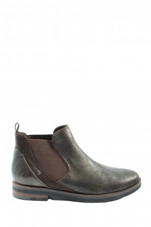 Marco Tozzi Chelsea Boots schwarz-braun Allover-Druck Casual-Look