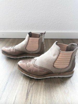 Marco Tozzi Chelsea Boots Gr. 38 rosegold beige