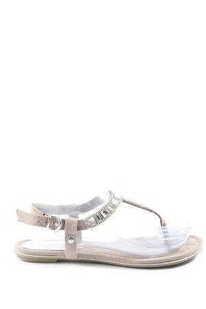 Marco Tozzi Dianette sandalen lichtgrijs casual uitstraling
