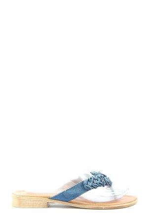 Marco Tozzi Sandały japonki niebieski W stylu casual