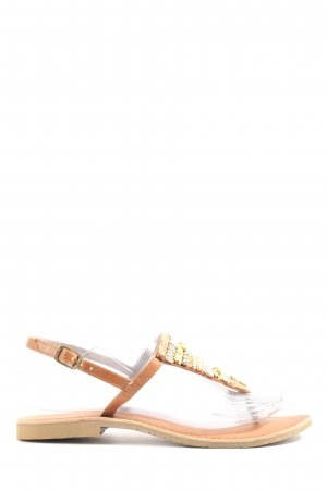 Marco Tozzi Dianette sandalen bruin casual uitstraling