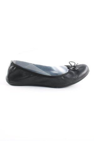 Marco Tozzi faltbare Ballerinas schwarz Casual-Look