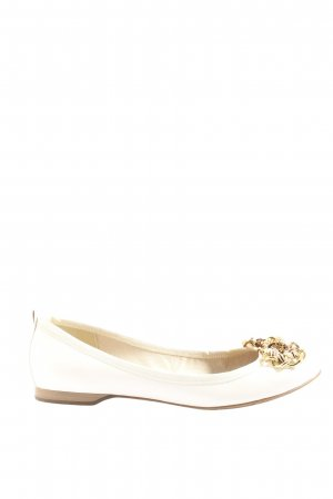 Marco Tozzi Bailarinas plegables blanco look casual