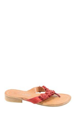 Marco Tozzi Flip Flop Sandalen rot Casual-Look