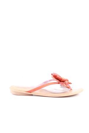 Marco Tozzi Flip Flop Sandalen nude-rot Casual-Look