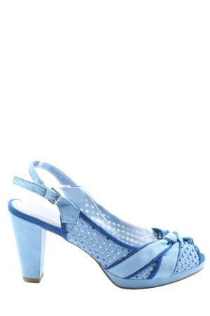 Marco Tozzi High Heel Sandaletten blau abstraktes Muster Elegant