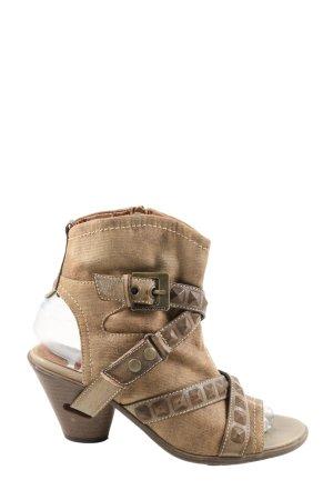 Marco Tozzi High Heel Sandaletten braun Casual-Look