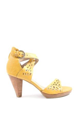 Marco Tozzi High Heel Sandaletten blassgelb Casual-Look