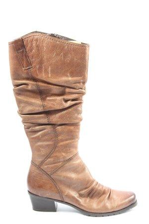 Marco Tozzi Wysokie buty na obcasie brązowy W stylu casual