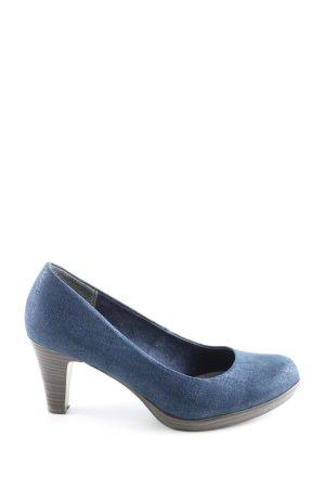 Marco Tozzi High Heels blau Business-Look