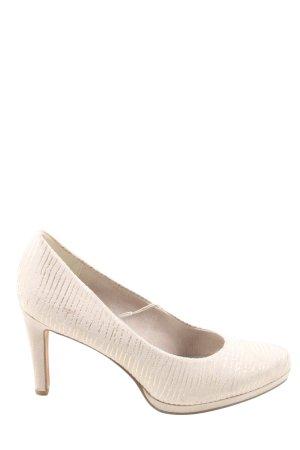 Marco Tozzi High Heels wollweiß Streifenmuster Elegant