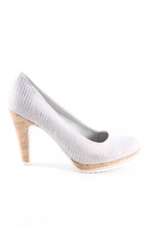 Marco Tozzi High Heels silberfarben Business-Look