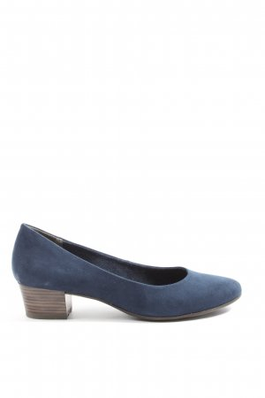 Marco Tozzi Hochfront-Pumps blau Casual-Look