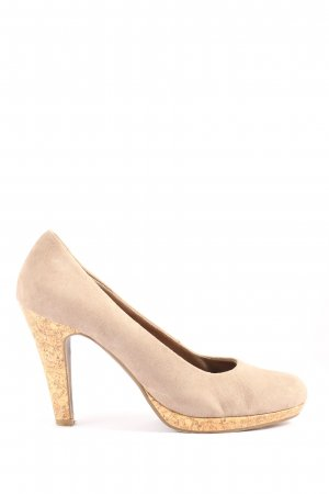 Marco Tozzi Hochfront-Pumps wollweiß Business-Look