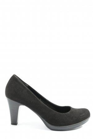 Marco Tozzi Hochfront-Pumps schwarz Casual-Look