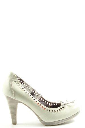 Marco Tozzi Chaussure à talons carrés gris clair style extravagant