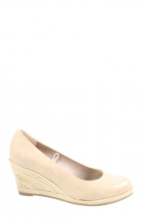 Marco Tozzi Keil-Pumps creme Casual-Look
