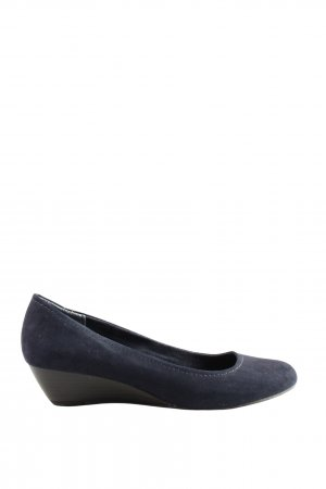 Marco Tozzi Keil-Pumps blau Casual-Look