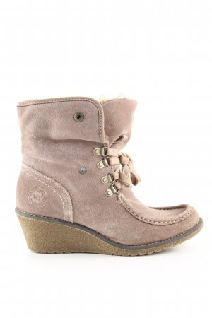 Marco Tozzi Wedge Booties natural white casual look