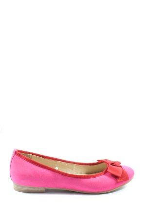 Marco Tozzi Klassische Ballerinas pink-rot Casual-Look