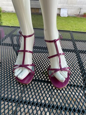 Marco Tozzi Strapped High-Heeled Sandals violet