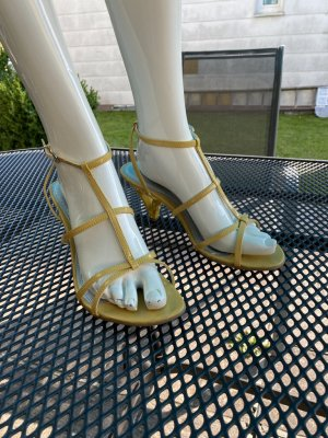 Marco Tozzi Strapped High-Heeled Sandals neon yellow